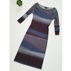 Weston Wear Anthropologie Oil Spill Sheer Dress
